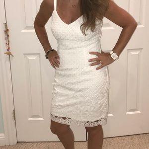 White house black market white lace dress 2P